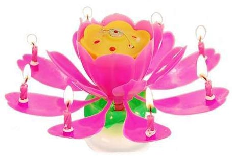 Lotus Music Candle Small